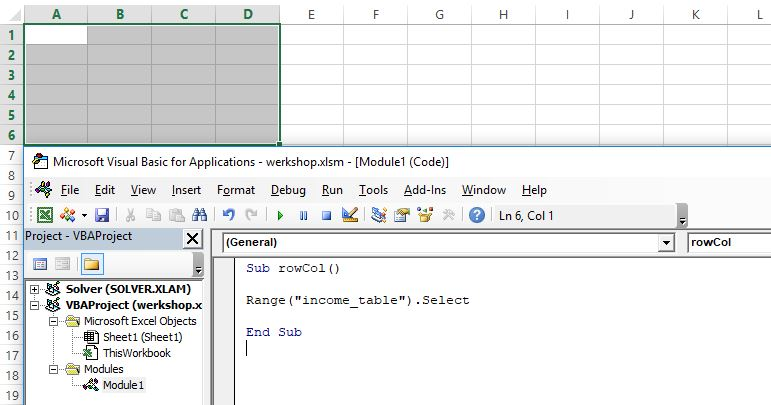 Excel VBA Reference